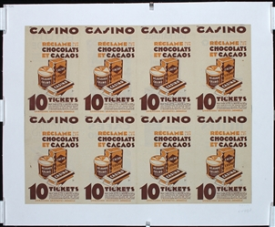 Casino - Chocolats et Cacaos by Anonymous - France. ca. 1935