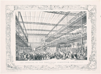 The Interior of the Industrial Exhibition by C. Dorrington. 1851
