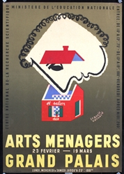 Arts Menagers (3 Posters) by Francis Bernard. 1949 - 1950