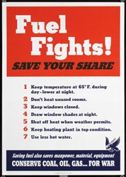 Fuel Fights by Anonymous - USA. 1943