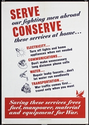 Serve - Conserve by Anonymous - USA. 1943