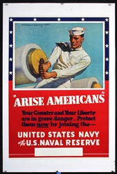 Arise Americans - United States Navy by McClelland Barclay. 1941