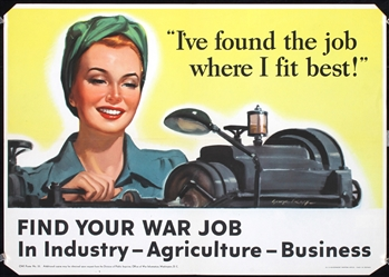 Ive found the job where I fit best by Anonymous - USA. 1943