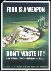 Food is a weapon - dont waste it by Anonymous - USA. 1943