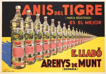 Anis del Tigre by Zsolt. ca. 1930