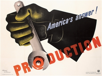 America´s answer - Production by Jean Carlu. 1941