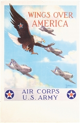 Wings over America - Air Corps U.S. Army by Tom Woodburn. 1939