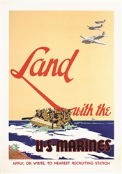 Land with the U.S Marines by Guinness, Vic. 1942