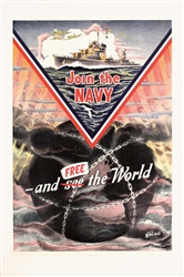 Join the Navy - and free the World by M. Privitello. 1942