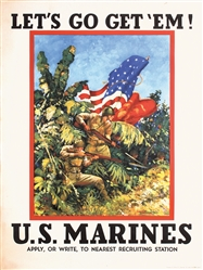 Let´s Go Get Em - U.S Marines by Vic Guinness. 1942