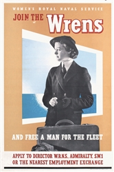 Join the Wrens - Womens Royal Naval Service by Anonymous. ca. 1943