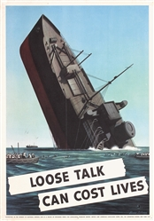 Loose talk can cost lives by Stevan Dohanos. 1942