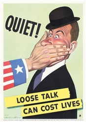 Loose talk can cost lives by Dal Holcomb. 1942