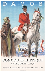 Davos Concours Hippique by Anonymous. 1951