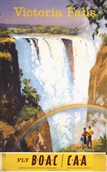 BOAC - Victoria Falls by Frank Wootton. 1949
