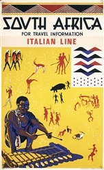 South Africa (Italian Line) by Cole Bowen. ca. 1938
