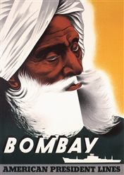 American President Lines - Bombay by Anonymous. ca. 1956