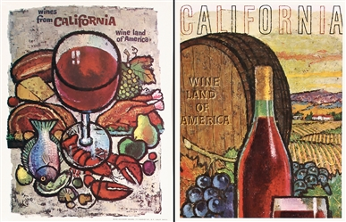 California Wine (11 Posters) by Amando Gonzales. ca. 1965