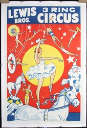 Lewis Bros. 3 Ring Circus by Anonymous. ca. 1948