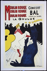 Moulin Rouge (Print) by Toulouse-Lautrec. ca. 1960