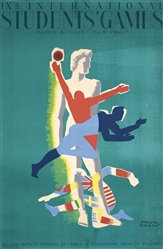 International Students Games by Paul Colin. 1947