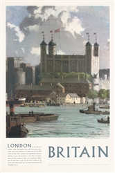 Britain - London (Tower of London) by Norman Wilkinson. 1954