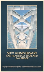 50th Anniversary San Francisco-Oakland Bay Bridge by Lance Anderson. 1987