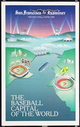 San Francisco & Oakland Baseball / Football (2 + 2 Posters) by Anonymous. 1989